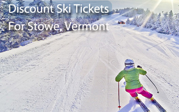 stowe ski resort discount ski tickets and by owner lodging